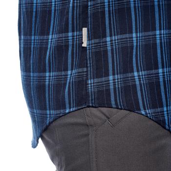 Compass Flannel LS Shirt Men Midnight Navy/SEA BLUE/Plaid