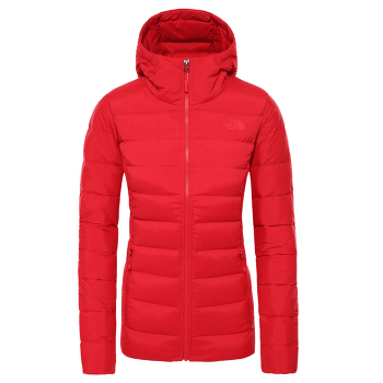 Stretch Down Hoodie Women TNF RED