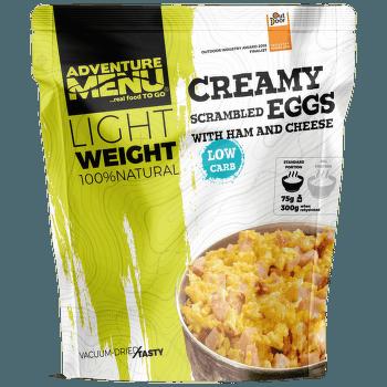 Lightweight Krémová míchaná vajíčka se šunkou a sýrem