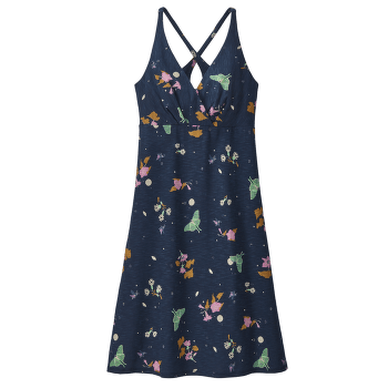 Amber Dawn Dress Women Night Pollinators Spaced: New Navy