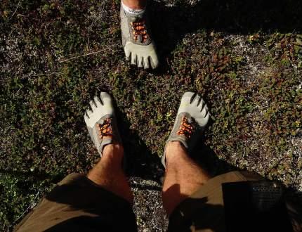 Prstové boty na treku
