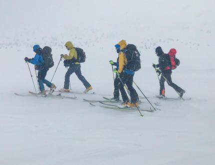 Na skialpech přes Krkonoše