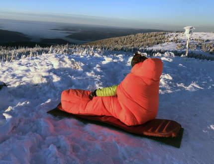 Péřový drtič mrazu: Spacák Protect Down -18 °C
