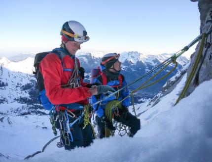 Severní stěnou Eigeru s HUDY ambasadorem Lukášem Ondráškem
