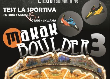 Pozvánka: Makak boulder 3 a testování lezeček no-edge La Sportiva