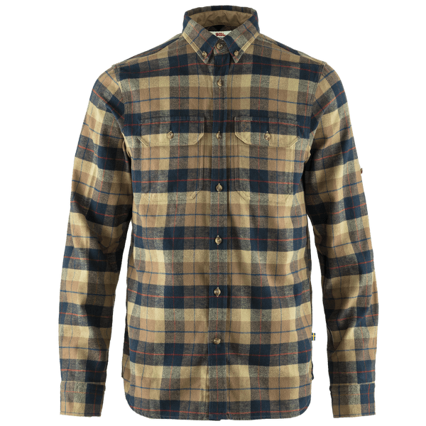 Singi Heavy Flannel Shirt Men Dark Sand