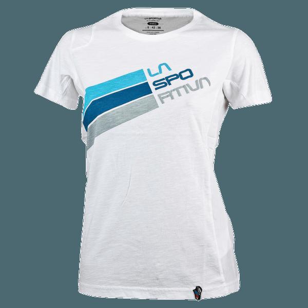 Stripe Logo T-Shirt Women White