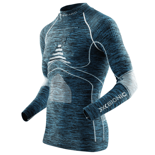 Energy Accumulator EVO Melange Shirt Men Blue Melange/White