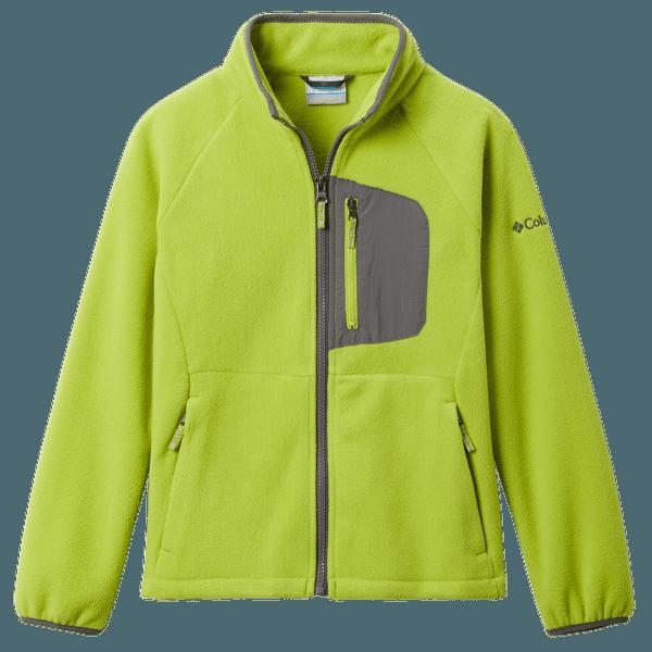 Fast Trek™ III Fleece Full Zip Kids Bright Chartreuse, City Grey 386