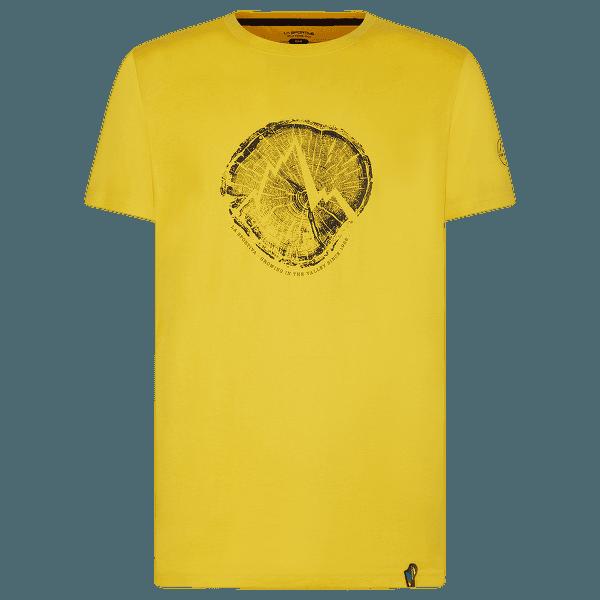 Cross Section T-Shirt Men Yellow