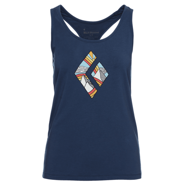 Rainbow Diamond Tank Women Ink Blue