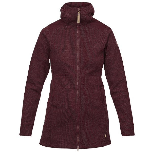 Övik Wool Jacket Women Dark Garnet