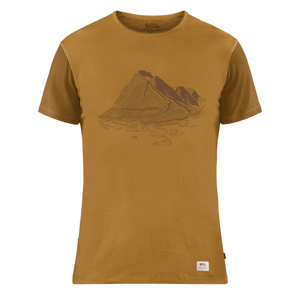 Keb Wool T-shirt Print Men Acorn-Chestnut