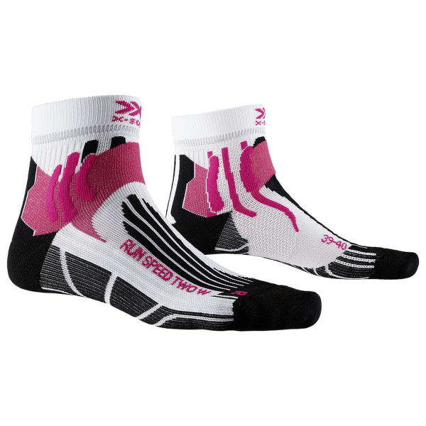 Run Speed Two Socks Women White-Black-Orange