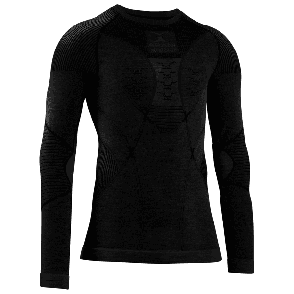 APANI® 4.0 Merino Shirt Round Neck Men Black/Black