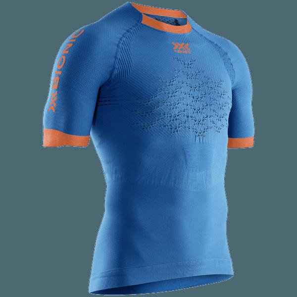 The Trick G2 Run Shirt SH SL Men TEAL BLUE/KURKUMA ORANGE