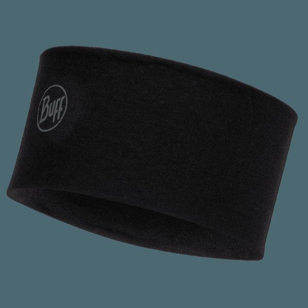 2 L Midweight Merino Wool Headband Solid Black SOLID BLACK
