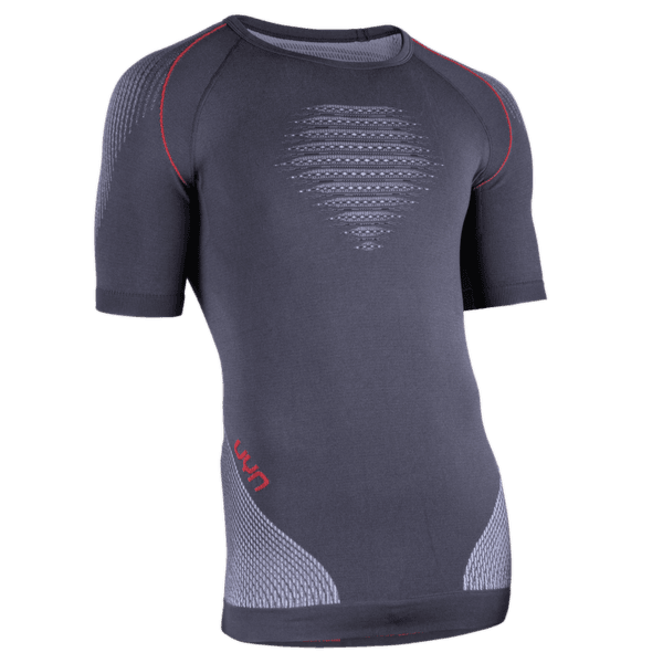 Evolutyon UW Shirt LS Men Charcoal/White/Red