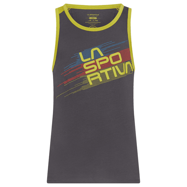 Stripe Tank Men Carbon/Kiwi
