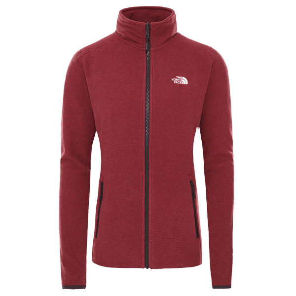 100 Glacier Full Zip Women ROOTBRN/POMEGRANATESTRIPE