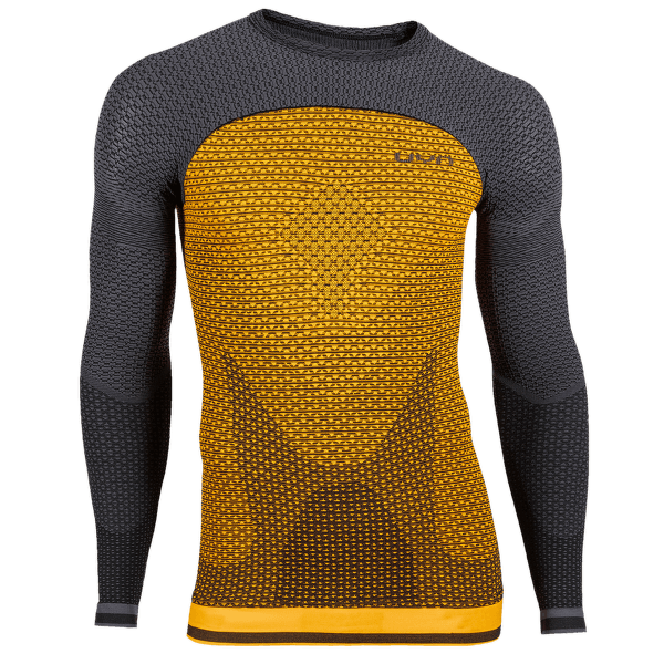 Running Alpha OW Shirt LS Men Sunny Orange/Charcoal