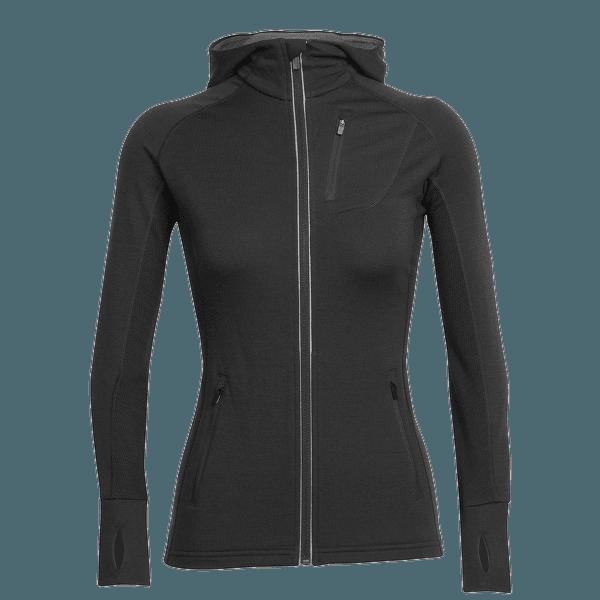 Quantum LS Zip Hood Women Black/Black/Black