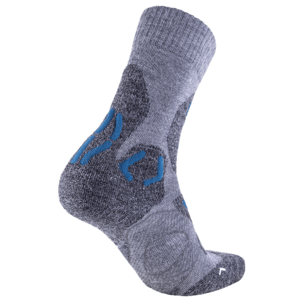 Trekking Winter Merino Women Grey Melange/Petrol Blue