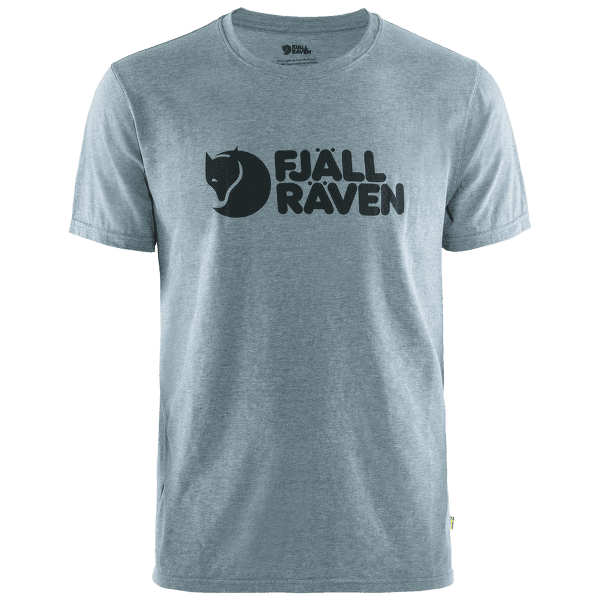 Fjällräven Logo T-shirt Men Uncle Blue-Melange