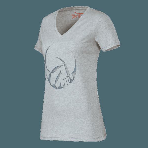 Zephira T-Shirt Women light grey mélange 0782