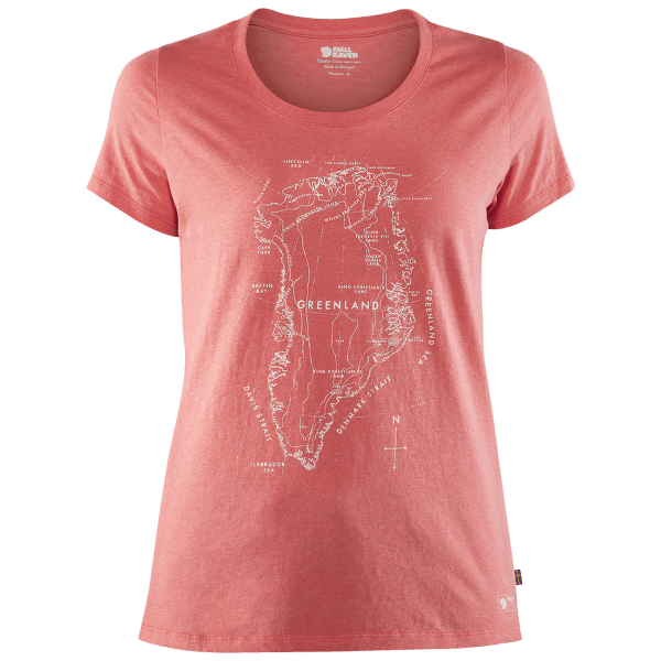 Greenland Printed T-Shirt Women Peach Pink