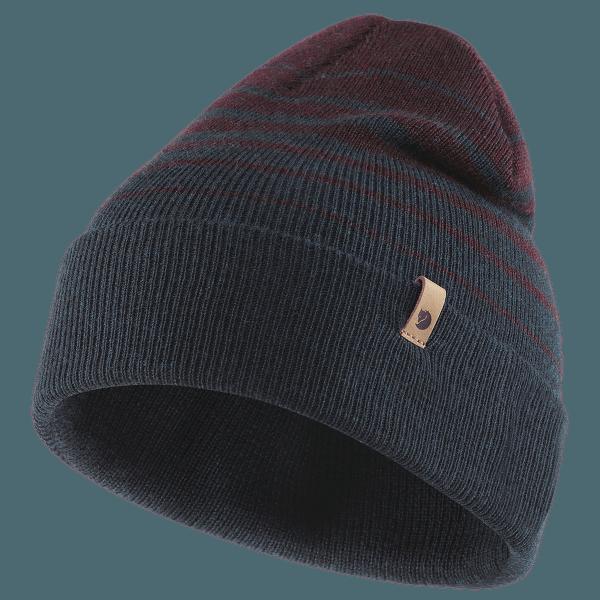 Classic Striped Knit Hat Dark Navy-Dark Garnet