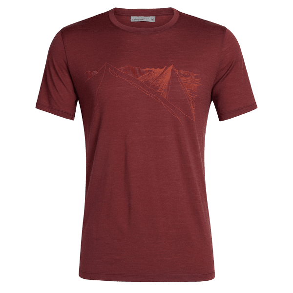 Tech Lite SS Crewe Peak in Reach Men Cabernet