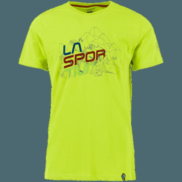 Cubic T-Shirt Men Apple Green
