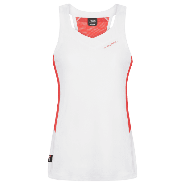 Joy Tank Women White/Hibiscus