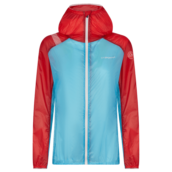 BRIZA WINDBREAKER JACKET WOMEN Malibu Blue/Hibiscus