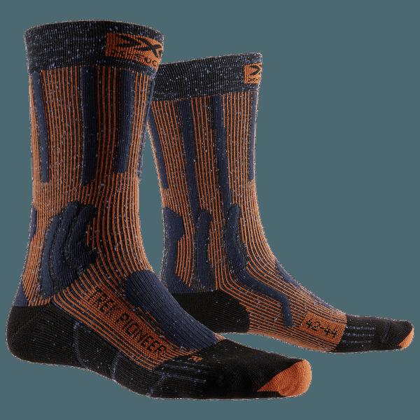 Trek Pioneer Socks Blue-Crimson Red