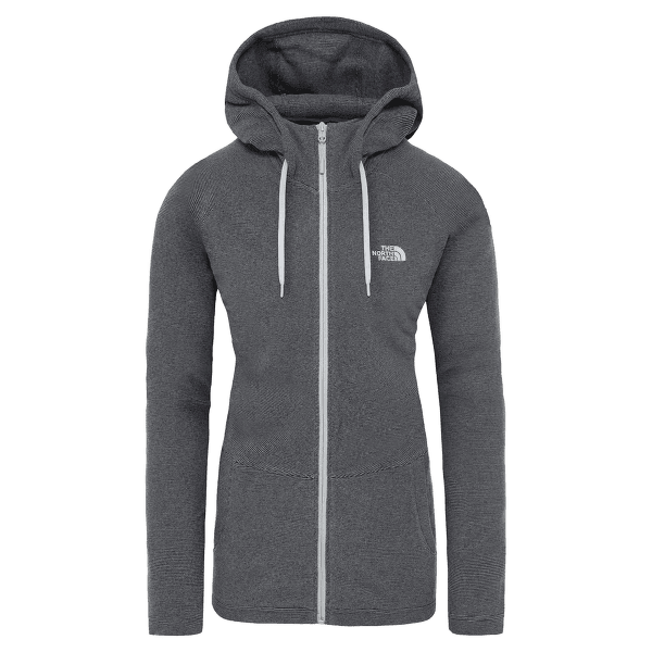 Mezzaluna Full Zip Hoodie Women TNF BLACK STRIPE