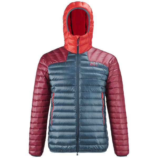 K Synth'x Down Hoodie Men ORION BLUE/TIBETAN RED