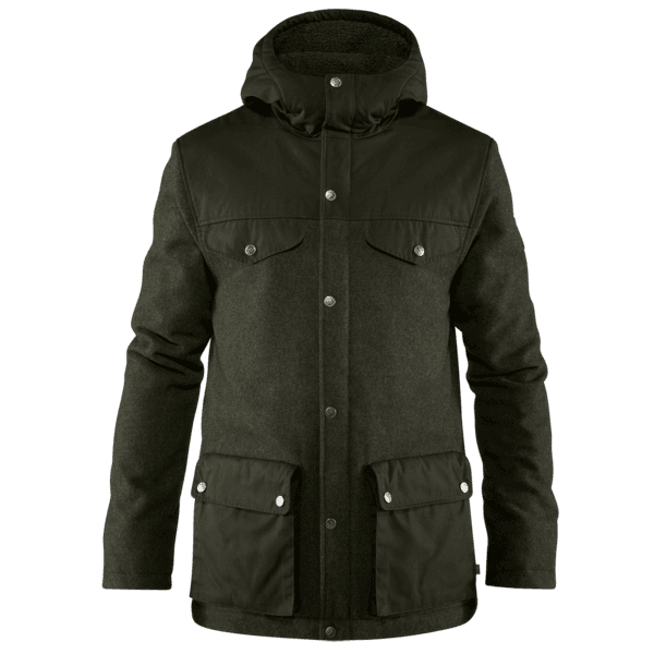 Greenland Re-Wool Jacket Men Deep Forest