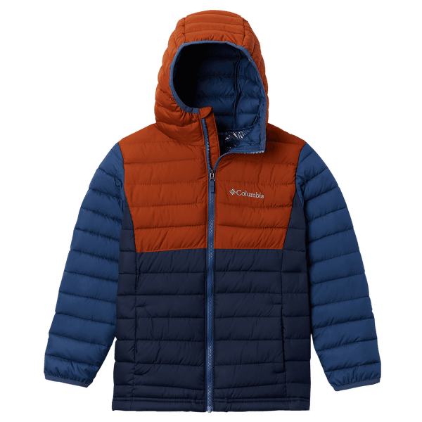 Powder Lite™ Hooded Jacket Boys Coll Navy, Dark Adobe, Night Tide 466
