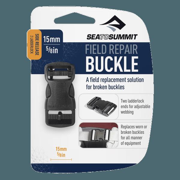 Buckle 15 mm side release 2 pin Black