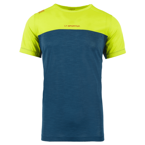 Crunch T-Shirt Men Opal/Apple Green