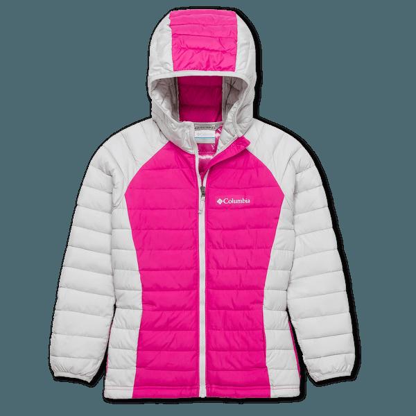 Powder Lite™ Hooded Jacket Girls Pink Ice, Silver Grey 696