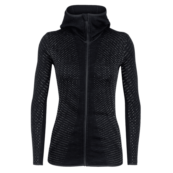 Elemental LS Zip Hood Women Black/Print