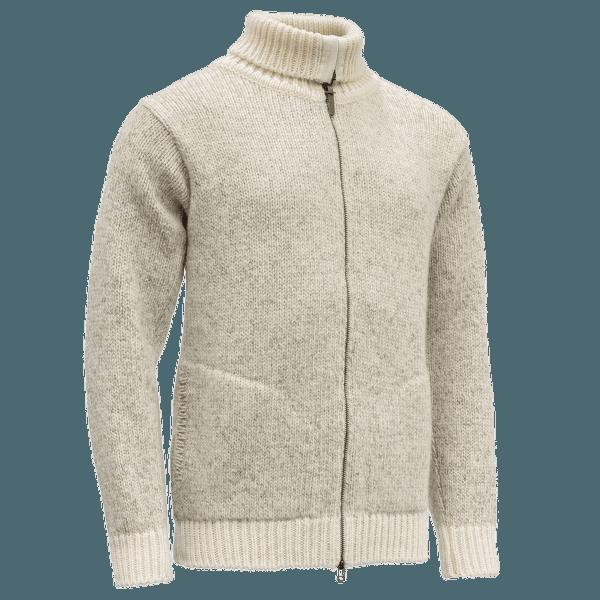 Nansen Zip Cardigan High Neck Grey Melange