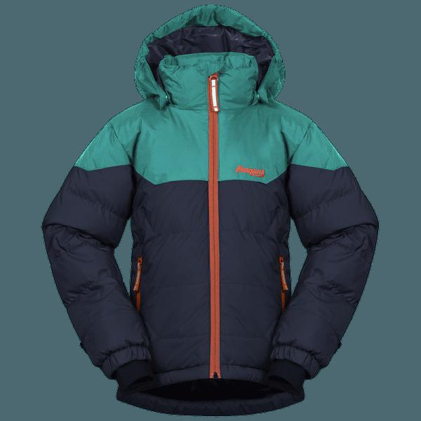 Ruffen Down Jacket Kids Navy/Greenlake/Bright Magma