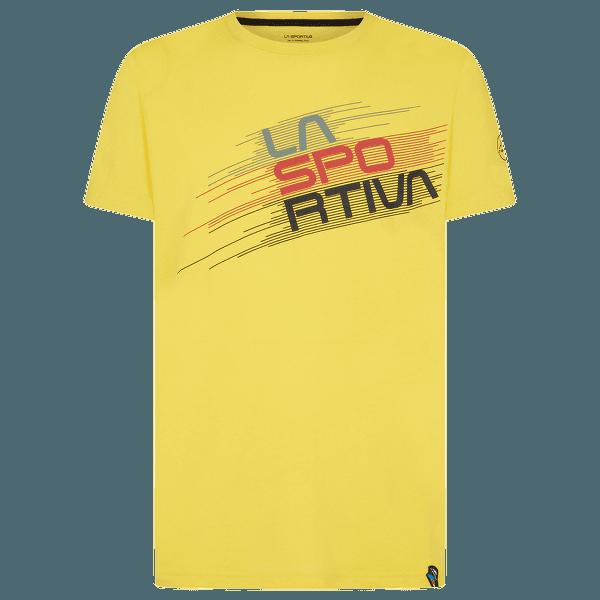 Stripe Evo T-Shirt Men Yellow