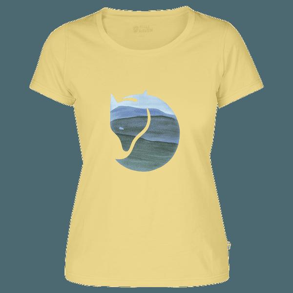 Watercolour Fox T-shirt Women Pale Yellow