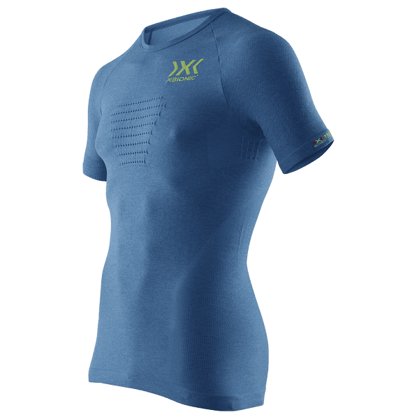 Speed Evo Melange Running Shirt Men Blue Melange