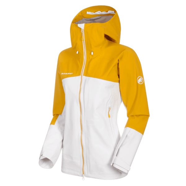 Masao HS Hooded Jacket Women Bright white-golden 00333